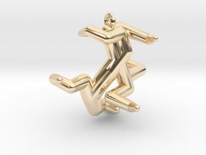 Y5 - Hexadenton in 14K Yellow Gold