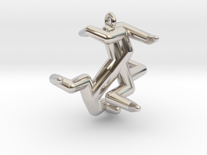 Y5 - Hexadenton in Rhodium Plated Brass