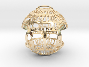 Gia Quotaball in 14k Gold Plated Brass