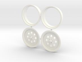 Weld Draglite Front 1/18 in White Processed Versatile Plastic