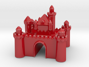 Castle - Porcelain - Zscale in Gloss Red Porcelain