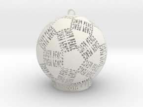 Peace Creator Ornament in White Strong & Flexible