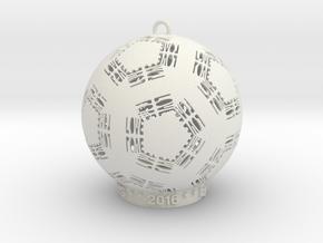 Love Creator Ornament in White Natural Versatile Plastic