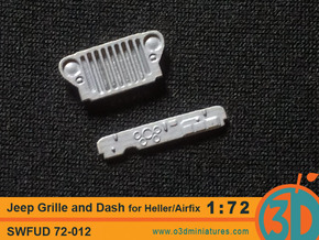 Jeep Grille and Dash for Heller/Airfix kit 1/72 sc in Frosted Ultra Detail