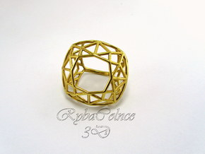Ring The Diamond / size 6 US in Polished Brass