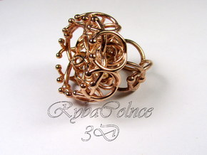 Ring The Spectrum / size 6 US (16,5 mm) in 14k Rose Gold Plated Brass