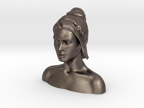 Megan Fox Headsculpt  in Polished Bronzed Silver Steel