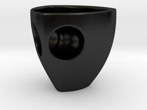 Metaxas & Sins Holyspresso Double Espresso Cup in Matte Black Porcelain
