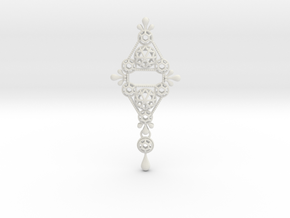 Gothic Pendant2 (cotton series) in White Natural Versatile Plastic