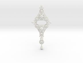 Gothic Pendant2 (cotton series) in White Natural Versatile Plastic