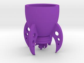 Rocket Mug in Purple Strong & Flexible Polished