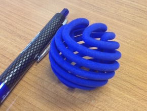 Figure-8 knot sphere in Blue Processed Versatile Plastic