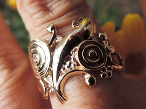 Carp Ring in Polished Brass