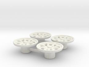 Tapacubos Minilite 16 in White Natural Versatile Plastic