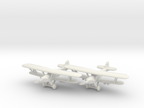 Hawker Hart (two airplanes set) 1/285 6mm in White Strong & Flexible