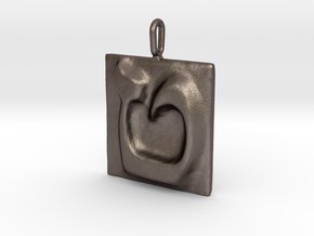 09 Tet Pendant in Polished Bronzed Silver Steel