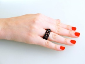 Triangulated Ring     in Black Strong & Flexible: 5 / 49