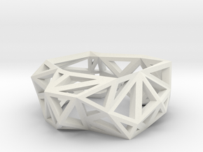 Triangulated Ring     in White Strong & Flexible: 5 / 49