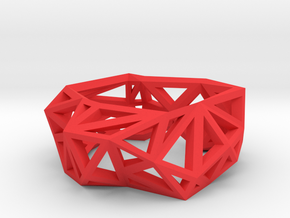 Triangulated Ring     in Red Strong & Flexible Polished: 5 / 49
