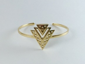 Vértice Tiered Cuff in Polished Brass