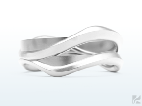 Full Dual Ring in Polished Silver: 6.5 / 52.75