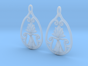 Art Nouveau Goddess of Progress Earrings in Frosted Ultra Detail