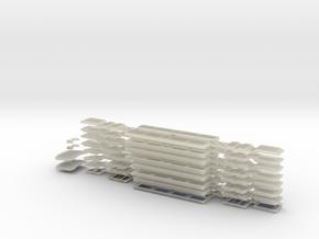 N04C - A Set Waratah - Cab glazing - Part C in Transparent Acrylic