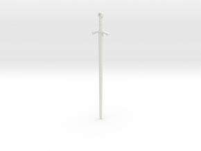 Excalibur Pendant in White Natural Versatile Plastic