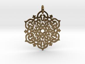 Mandala30 in Interlocking Polished Bronze
