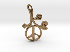 Earthly Spring Peace Sign by ~M. in Natural Brass