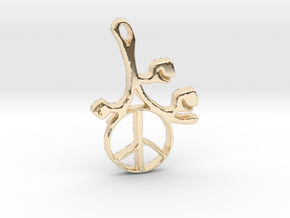 Earthly Spring Peace Sign by ~M. in 14K Yellow Gold