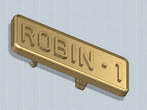 BELT BUCKLE ROBIN1 in Polished Nickel Steel