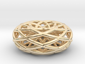 doubleishTorus 6 loop - medium in 14K Yellow Gold