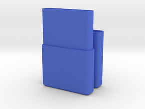 Cigarette Box / Holder in Blue Strong & Flexible Polished