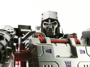 (2mm Screw) TR Faceplate & Helm for CW Megatron in Smooth Fine Detail Plastic