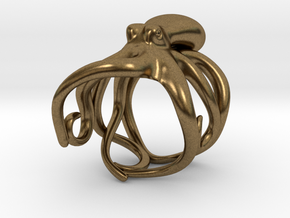 Octopus Ring 23.4mm(American Size 14.5) in Natural Bronze