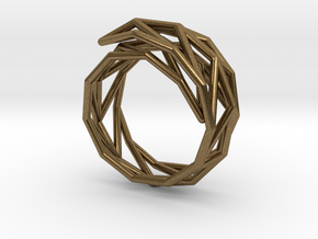 Spiral Frame* - S size in Natural Bronze