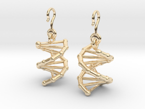 DNA Earrings (One Piece) in 14k Gold Plated Brass