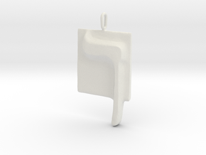 23 Kaf-sofit Pendant in White Natural Versatile Plastic