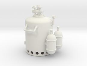 Vosper Smoke Generator 1/30 Scale in White Natural Versatile Plastic