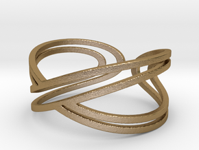 "Doble Infinity ""Infinito duplo"" in Polished Gold Steel: 5.5 / 50.25"