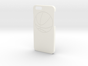 Iphone 6 Case - Name On The Back - Basketball in White Strong & Flexible Polished