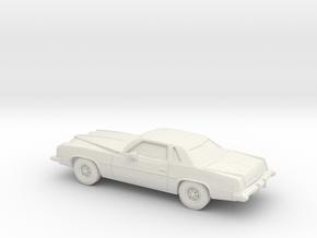 1/64 1973 Pontiac Grand Prix in White Natural Versatile Plastic