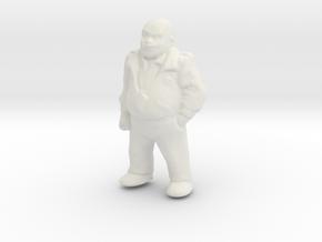 1/32 Standing Crew Member in White Natural Versatile Plastic