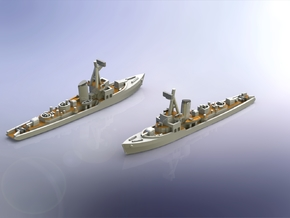 German KM Minensuchboot 1943 1/1800 in Smooth Fine Detail Plastic