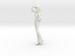 1/32 Race Queen Show Girl in White Natural Versatile Plastic
