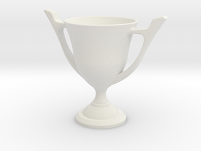 Trophy Cup in White Natural Versatile Plastic