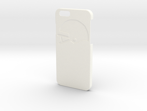 Iphone case - Name on the back - Football in White Processed Versatile Plastic