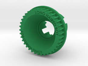 10mm 37T Pulley For Flywheels in Green Processed Versatile Plastic