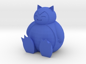 Snorlax Sitting in Blue Processed Versatile Plastic